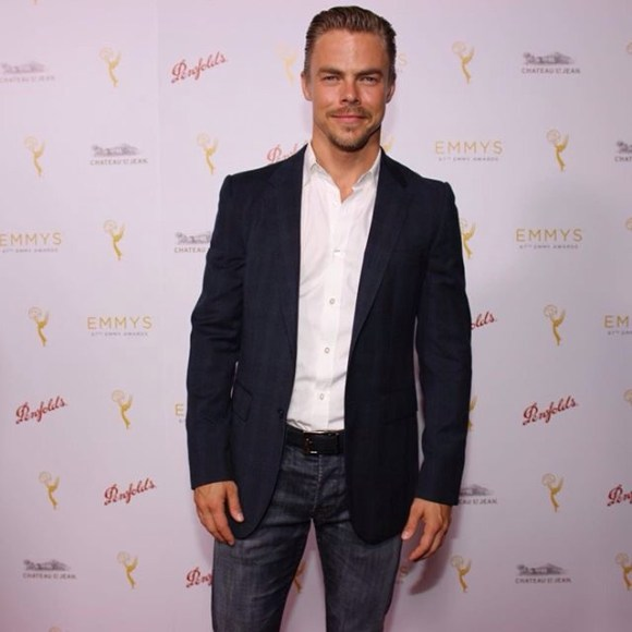"""It's Derek Hough here to celebrate with his fellow #Emmys nominees for Choreography!"" - August 30, 2015 Courtesy: televisionacad IG"